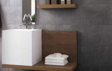 Bild Wandfliesen Betonoptik Badezimmer